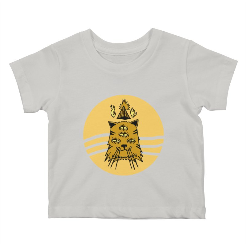 New Age Cat Kids Baby T-Shirt by Ertito Montana
