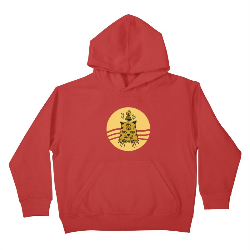 New Age Cat Kids Pullover Hoody by Ertito Montana