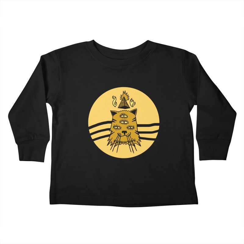 New Age Cat Kids Toddler Longsleeve T-Shirt by Ertito Montana