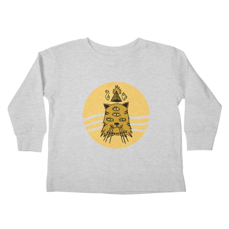 New Age Cat Kids Toddler Longsleeve T-Shirt by Ertito Montana