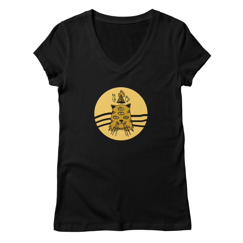 New Age Cat Women's V-Neck by Ertito Montana