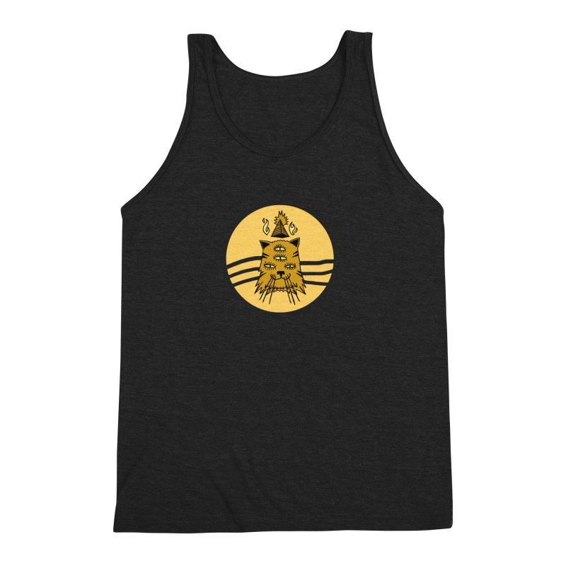 New Age Cat Men's Triblend Tank by Ertito Montana