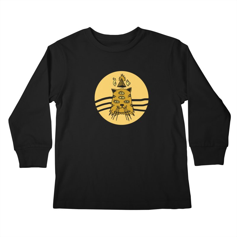 New Age Cat Kids Longsleeve T-Shirt by Ertito Montana