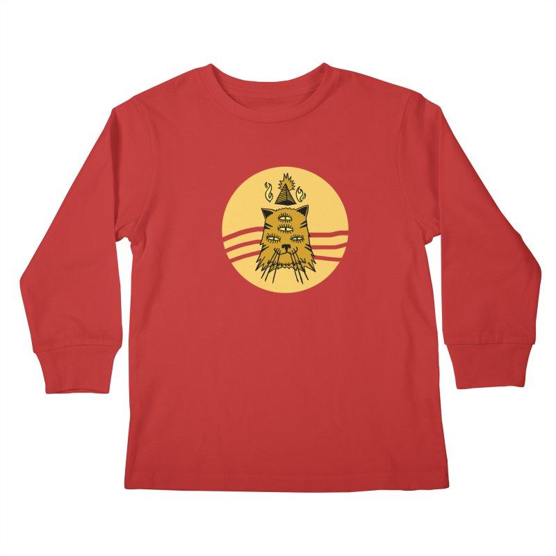 New Age Cat Kids Longsleeve T-Shirt by Ertito Montana