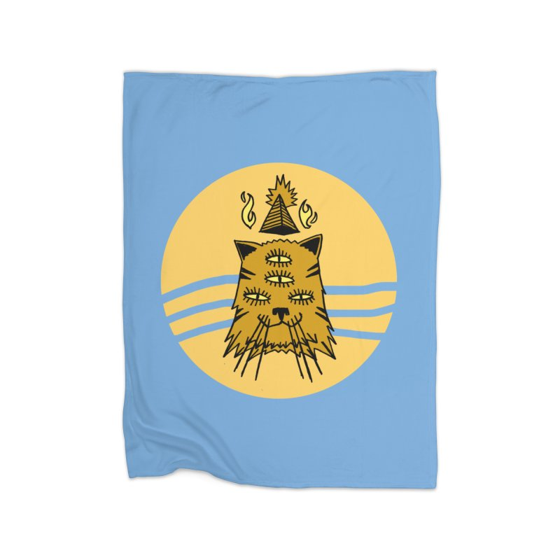 New Age Cat Home Fleece Blanket Blanket by Ertito Montana