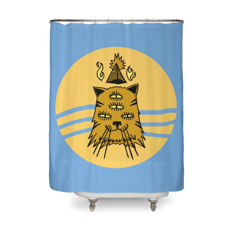 New Age Cat Home Shower Curtain by Ertito Montana