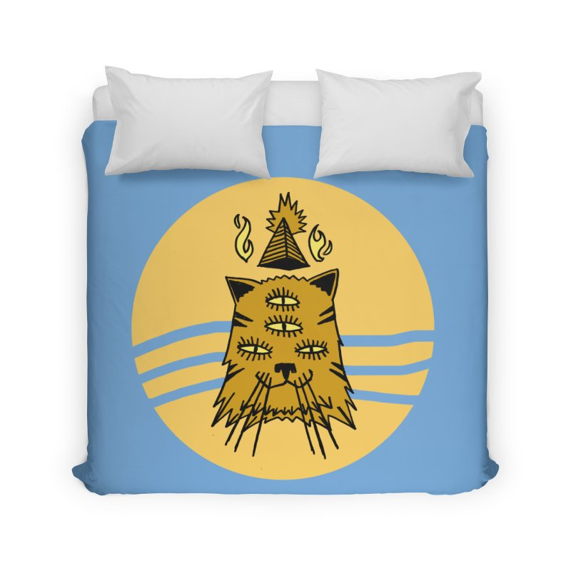 New Age Cat Home Duvet by Ertito Montana