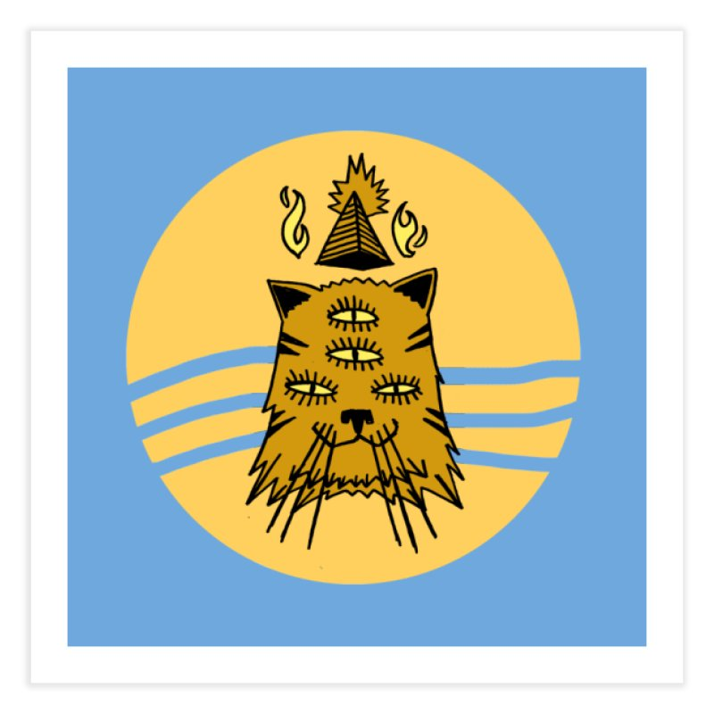New Age Cat Home Fine Art Print by Ertito Montana