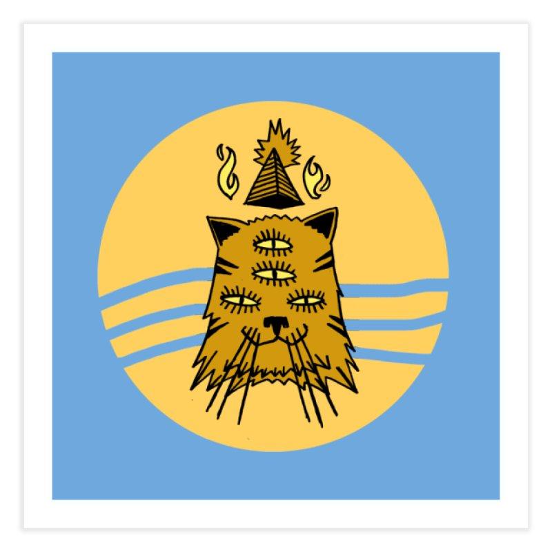 New Age Cat Home Fine Art Print by Ertito Montana