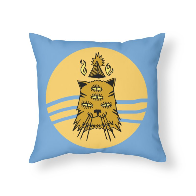 New Age Cat Home Throw Pillow by Ertito Montana