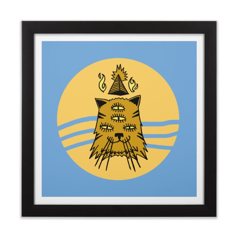 New Age Cat Home Framed Fine Art Print by Ertito Montana