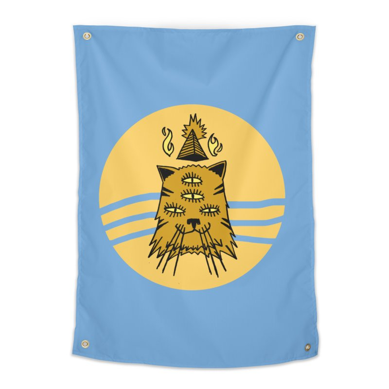 New Age Cat Home Tapestry by Ertito Montana