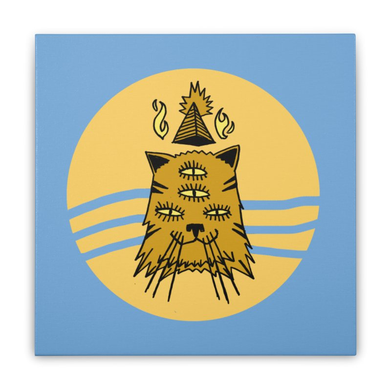 New Age Cat Home Stretched Canvas by Ertito Montana