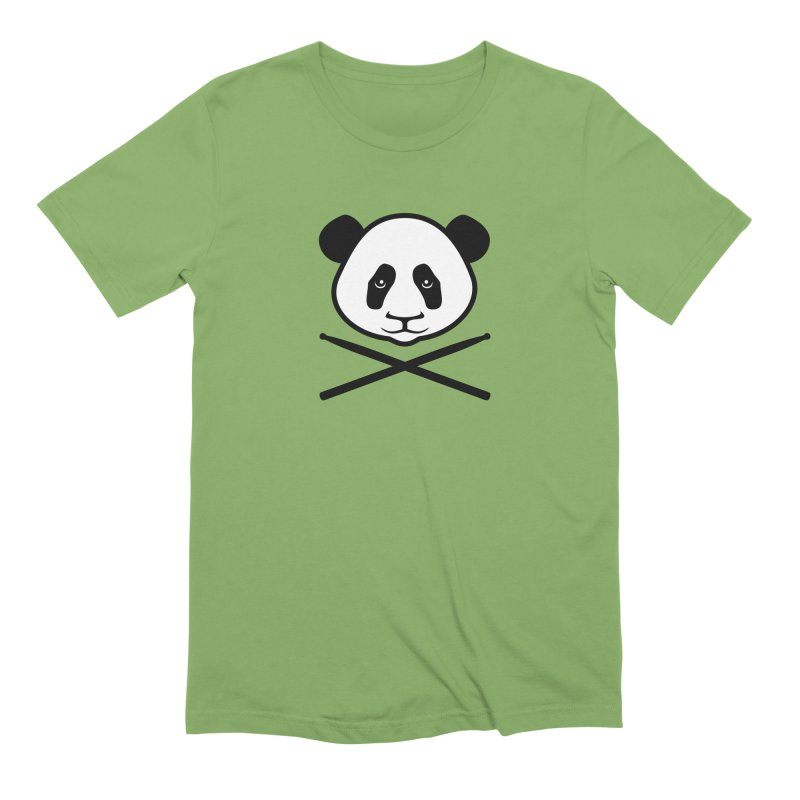 Drum Panda White Face in Men's Extra Soft T-Shirt Avocado by Drum Geek Online Shop