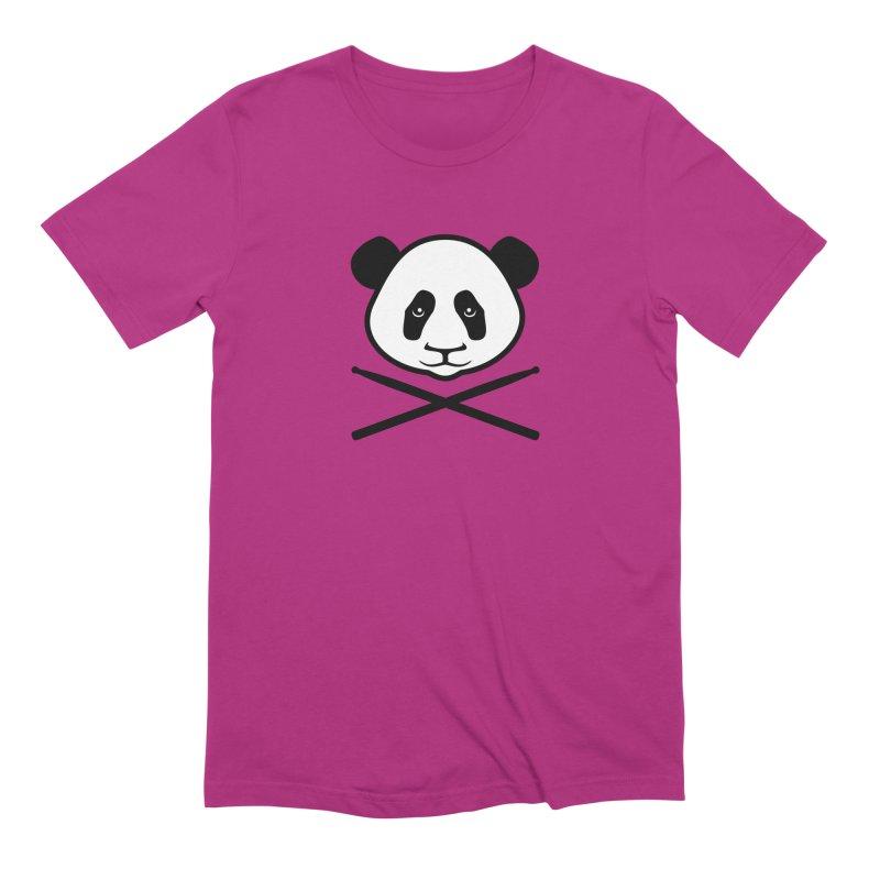 Drum Panda White Face Men's Extra Soft T-Shirt by Drum Geek Online Shop