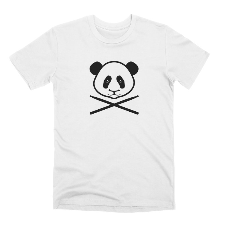 Drum Panda White Face Men's Premium T-Shirt by Drum Geek Online Shop