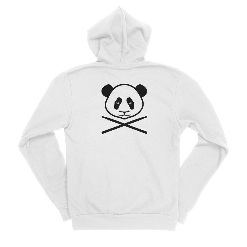 Drum Panda White Face Women's Sponge Fleece Zip-Up Hoody by Drum Geek Online Shop