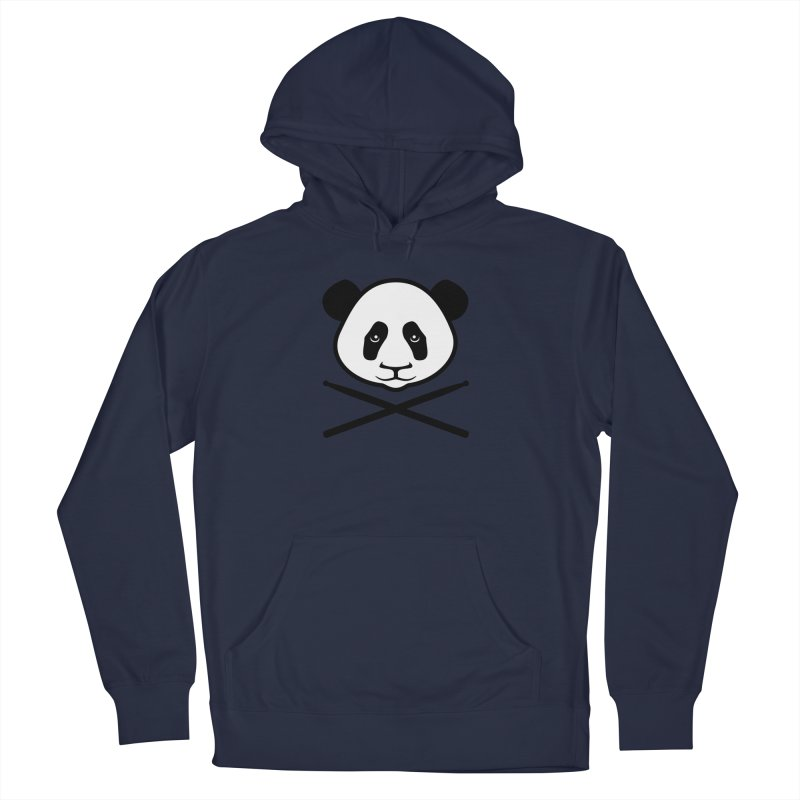 Drum Panda White Face Men's Pullover Hoody by Drum Geek Online Shop