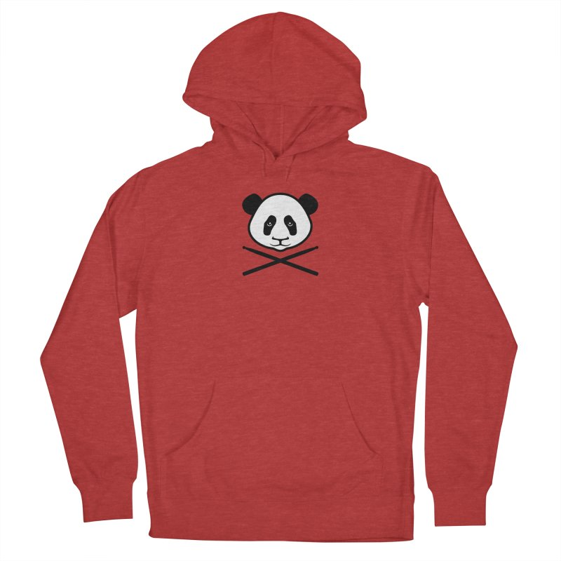 Drum Panda - White Face Men's Pullover Hoody by Drum Geek Online Shop