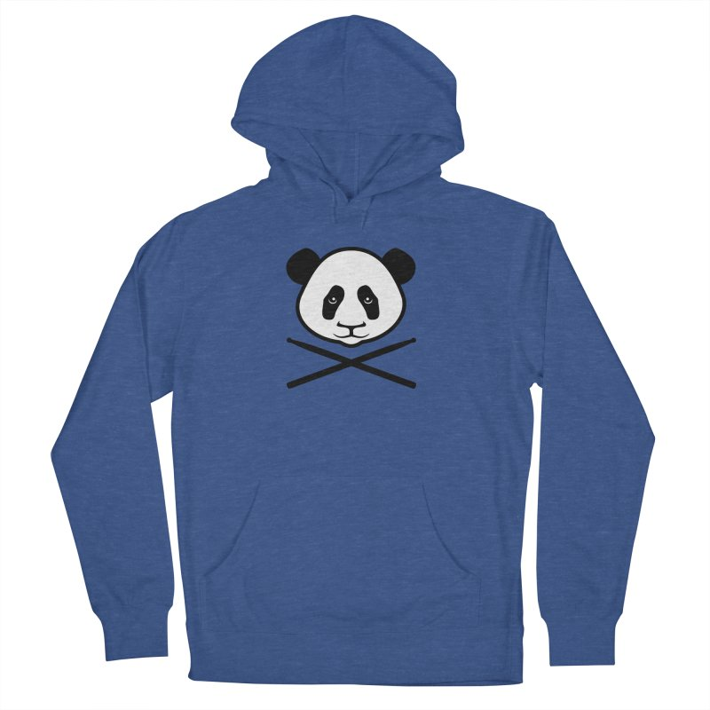 Drum Panda White Face Women's French Terry Pullover Hoody by Drum Geek Online Shop