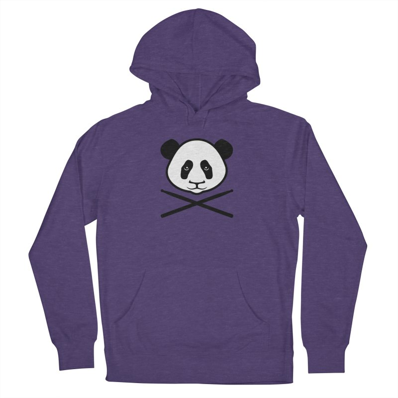 Drum Panda White Face Men's French Terry Pullover Hoody by Drum Geek Online Shop
