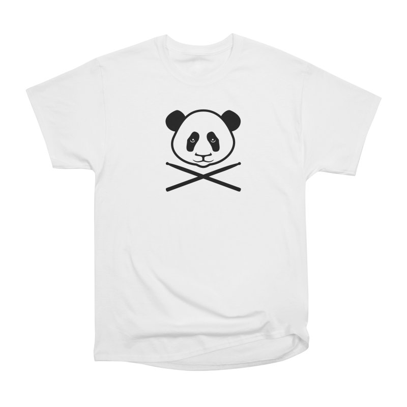Drum Panda White Face Men's Heavyweight T-Shirt by Drum Geek Online Shop