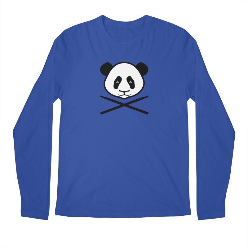 Drum Panda White Face Men's Regular Longsleeve T-Shirt by Drum Geek Online Shop