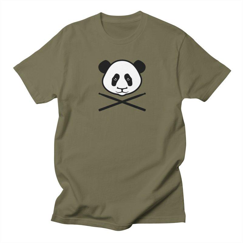 Drum Panda White Face Women's Regular Unisex T-Shirt by Drum Geek Online Shop