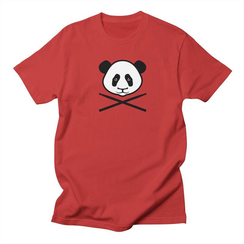 Drum Panda White Face Men's Regular T-Shirt by Drum Geek Online Shop