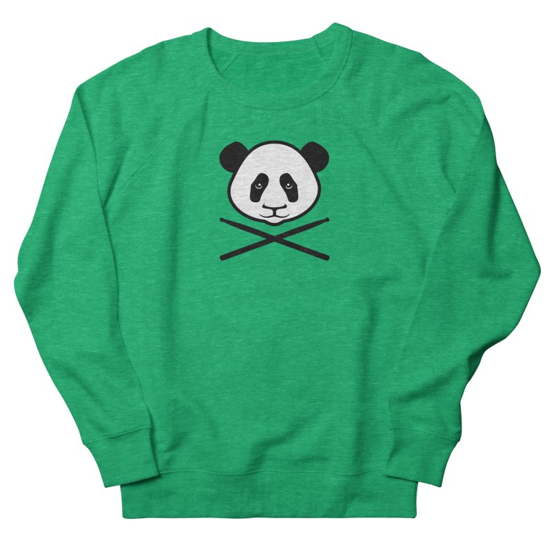 Drum Panda White Face Women's French Terry Sweatshirt by Drum Geek Online Shop