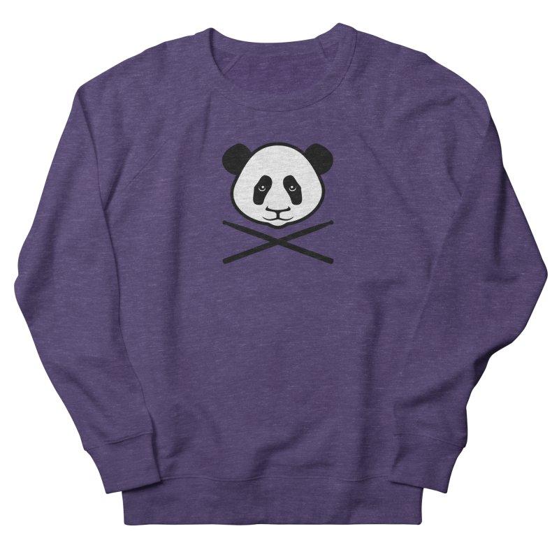 Drum Panda White Face Men's French Terry Sweatshirt by Drum Geek Online Shop