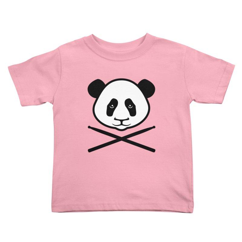 Drum Panda White Face Kids Toddler T-Shirt by Drum Geek Online Shop