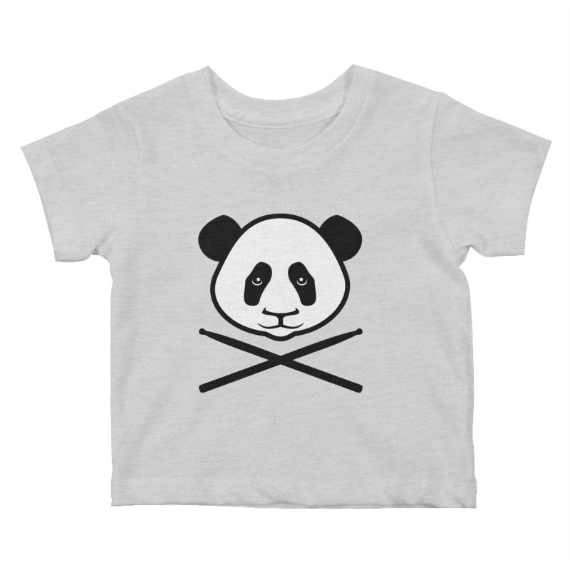 Drum Panda White Face Kids Baby T-Shirt by Drum Geek Online Shop