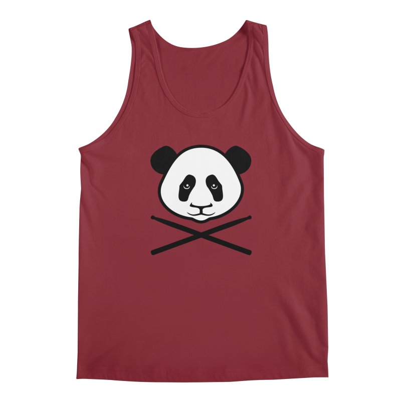 Drum Panda - White Face Men's Tank by Drum Geek Online Shop