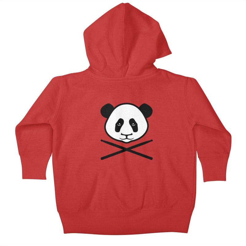 Drum Panda White Face Kids Baby Zip-Up Hoody by Drum Geek Online Shop