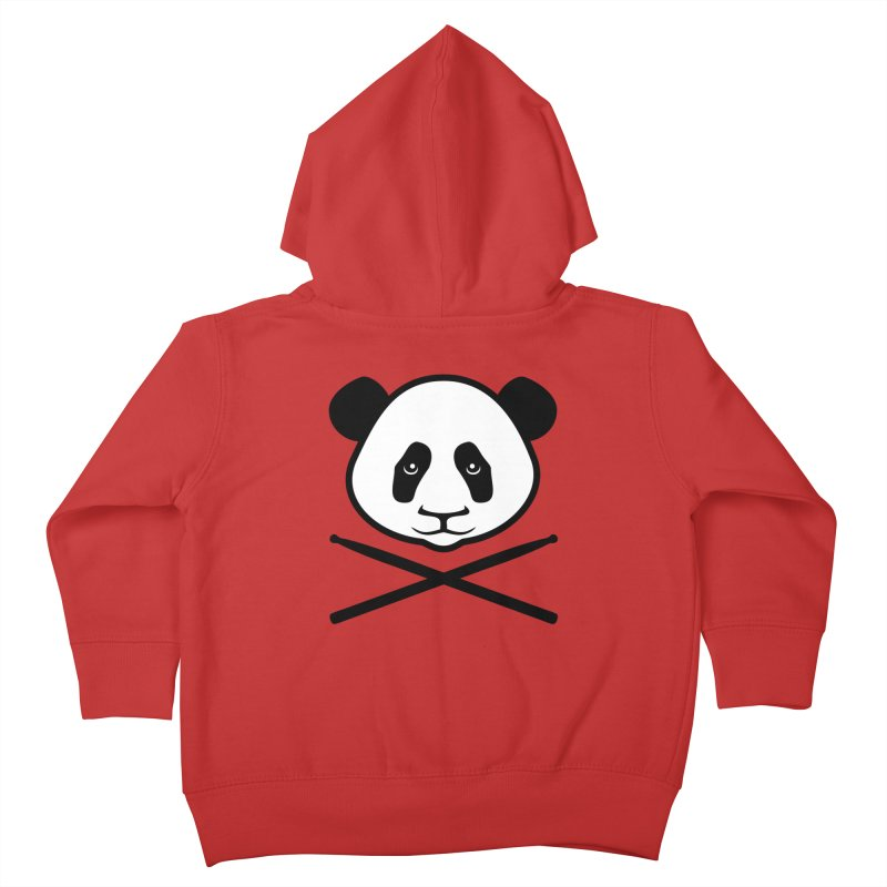 Drum Panda White Face Kids Toddler Zip-Up Hoody by Drum Geek Online Shop