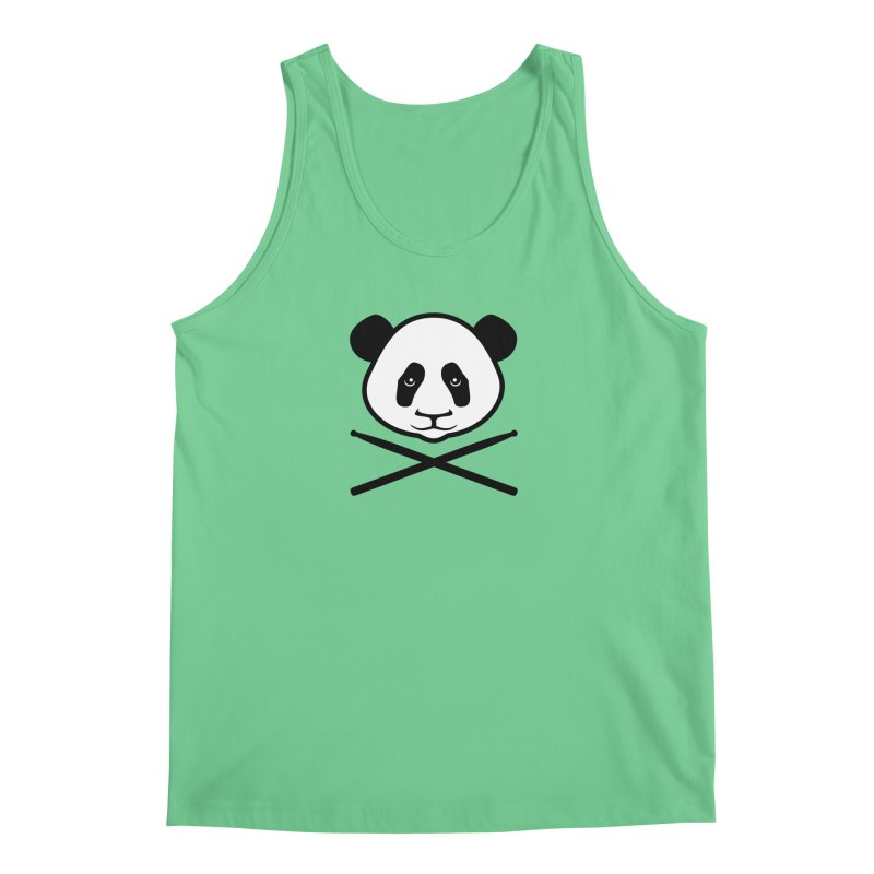 Drum Panda White Face Men's Regular Tank by Drum Geek Online Shop