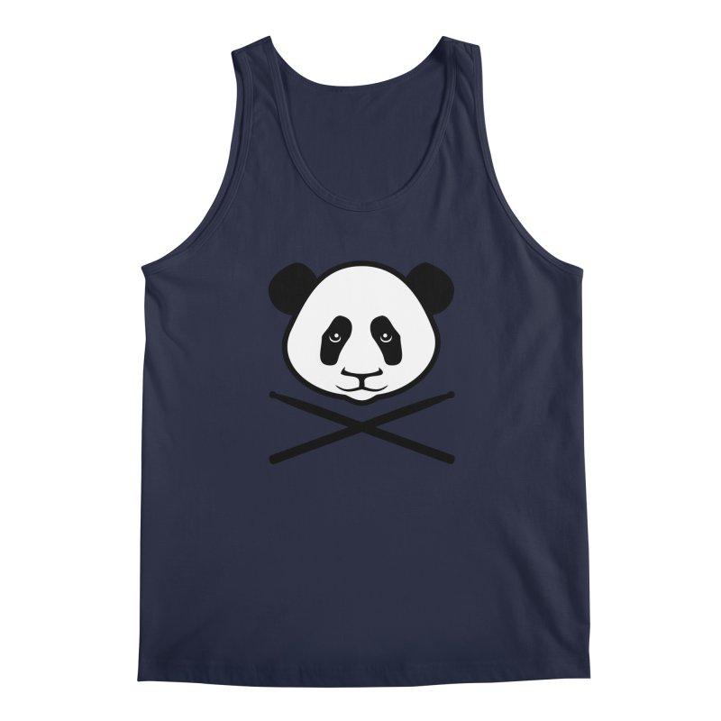 Drum Panda White Face Men's Regular Tank by Drum Geek Online Shop