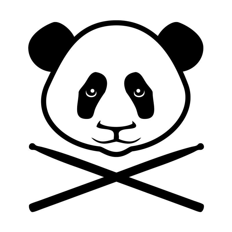 Drum Panda - Black Outline Women's Longsleeve T-Shirt by Drum Geek Online Shop