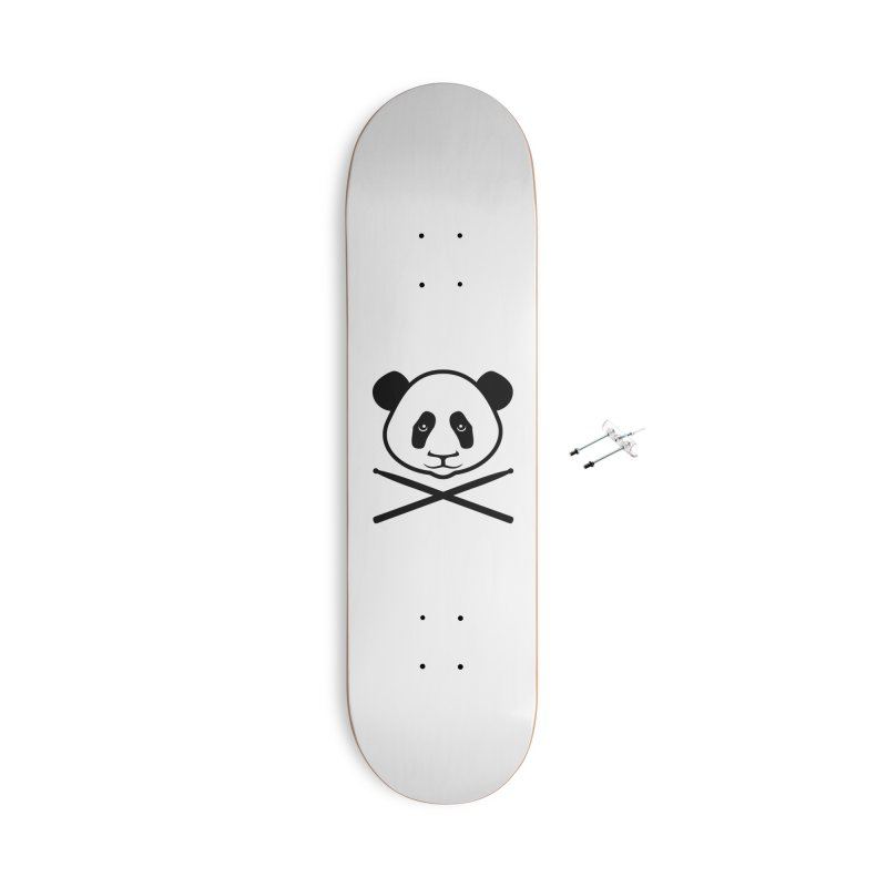 Drum Panda - Black Outline Accessories With Hanging Hardware Skateboard by Drum Geek Online Shop