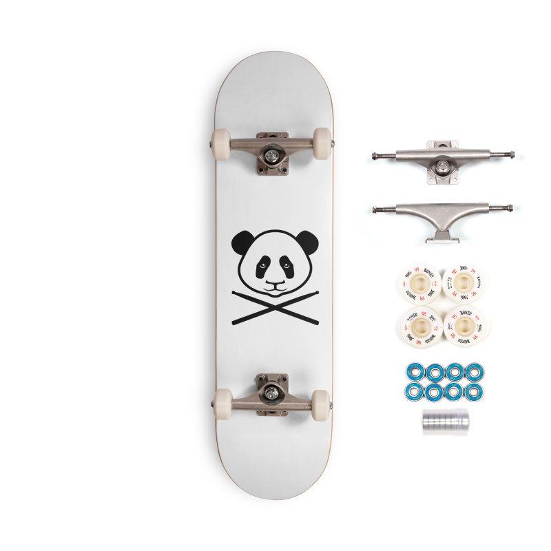 Drum Panda - Black Outline Accessories Complete - Premium Skateboard by Drum Geek Online Shop