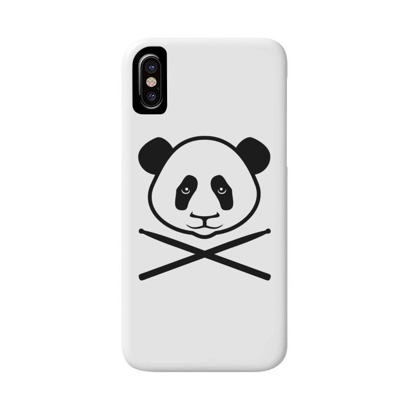 Drum Panda Transparent Accessories Phone Case by Drum Geek Online Shop