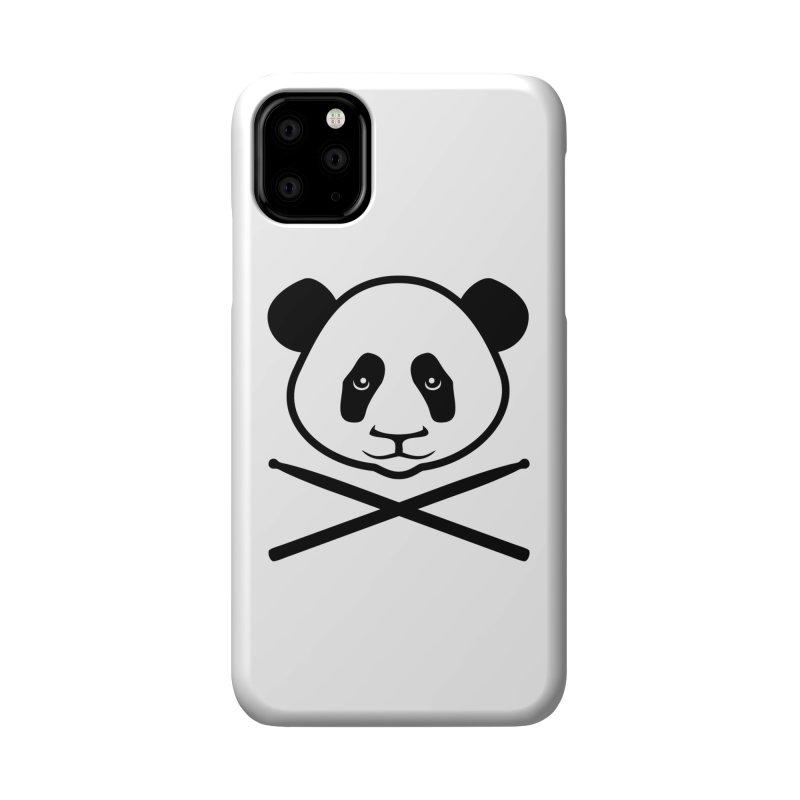 Drum Panda - Black Outline Accessories Phone Case by Drum Geek Online Shop