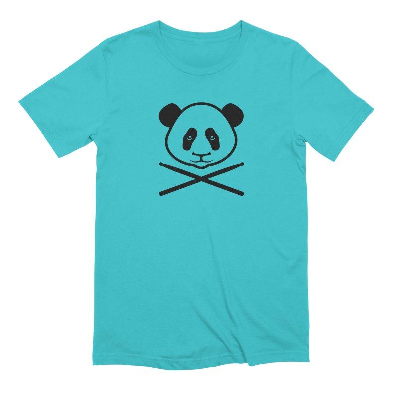 Drum Panda Transparent Men's Extra Soft T-Shirt by Drum Geek Online Shop