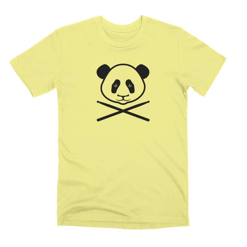 Drum Panda Transparent Men's Premium T-Shirt by Drum Geek Online Shop