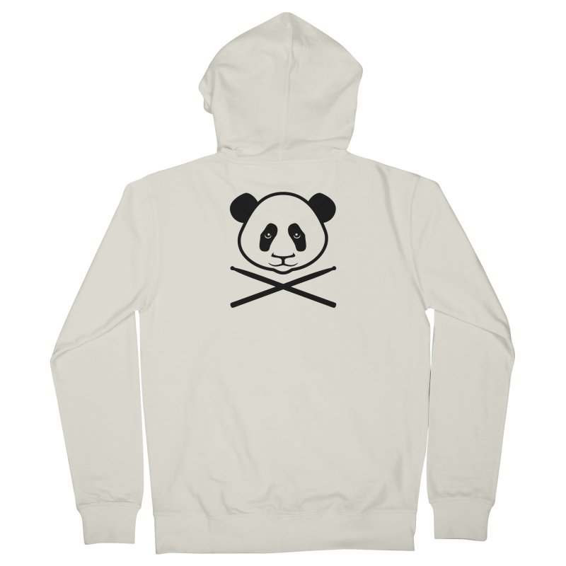 Drum Panda Transparent Women's French Terry Zip-Up Hoody by Drum Geek Online Shop