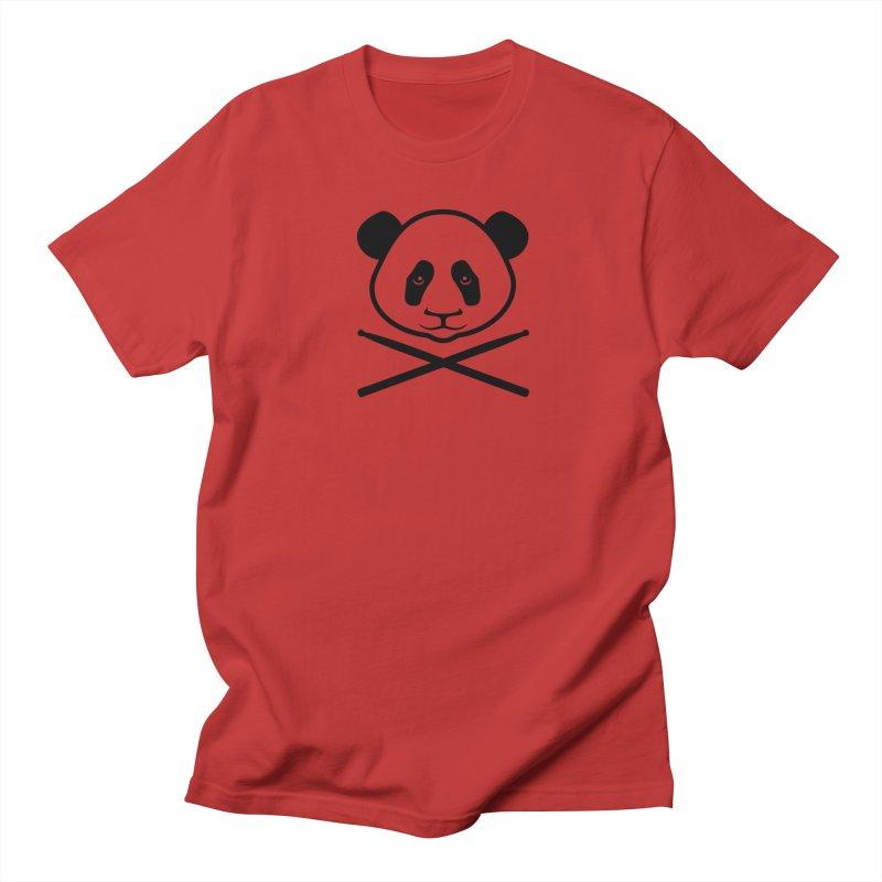 Drum Panda Transparent Men's Regular T-Shirt by Drum Geek Online Shop
