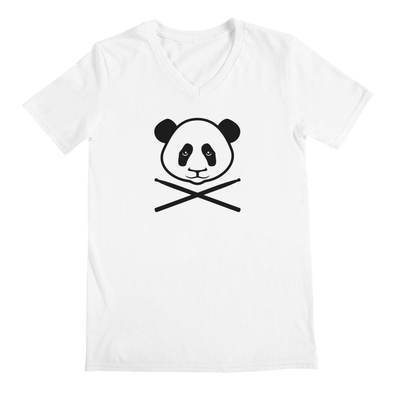 Drum Panda Transparent Men's Regular V-Neck by Drum Geek Online Shop