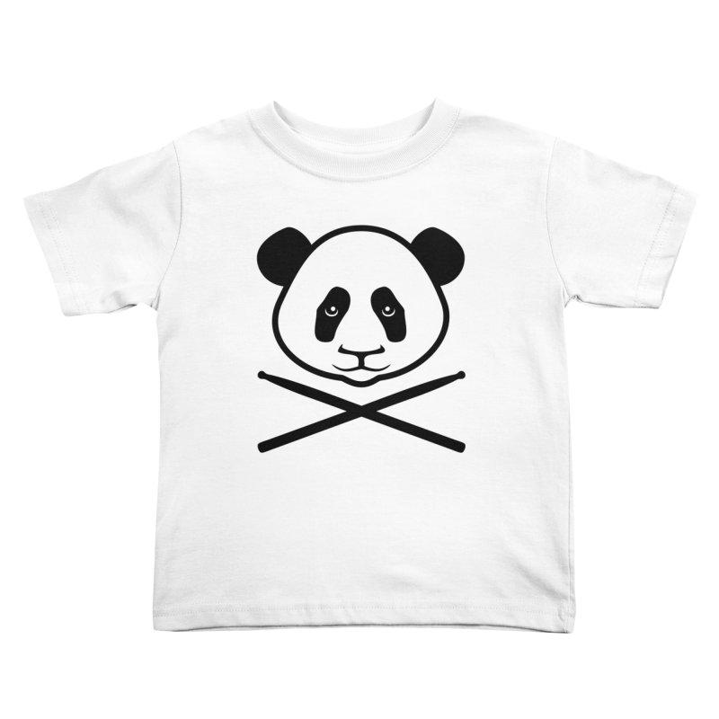 Drum Panda Transparent Kids Toddler T-Shirt by Drum Geek Online Shop