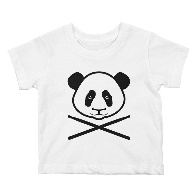 Drum Panda Transparent Kids Baby T-Shirt by Drum Geek Online Shop